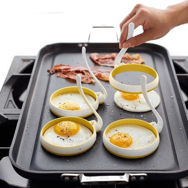 Silicone Omelette Egg Ring High temperature resistance Cross-border Specifically Circular 2 PCS