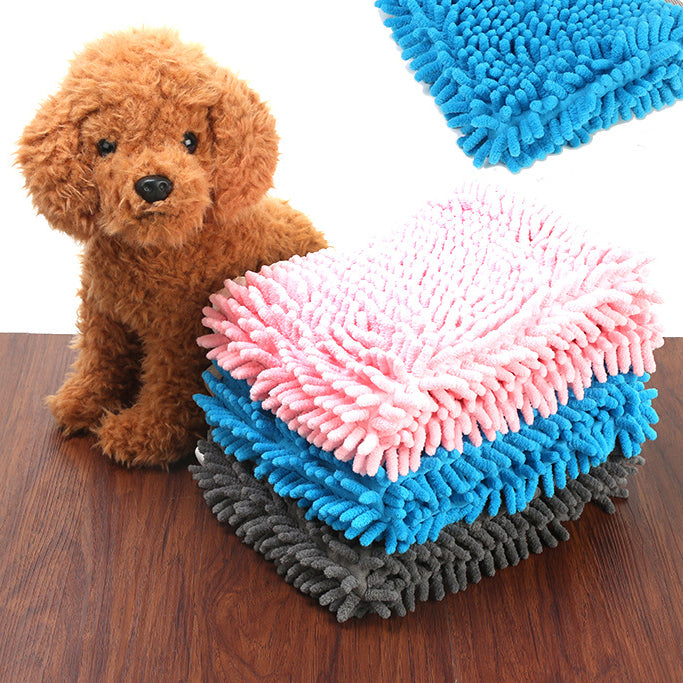 Pet Absorbent Towel Fiber Chenille Towel Thickening Cat Dog Bath Towel Pet Cleaning Supplies