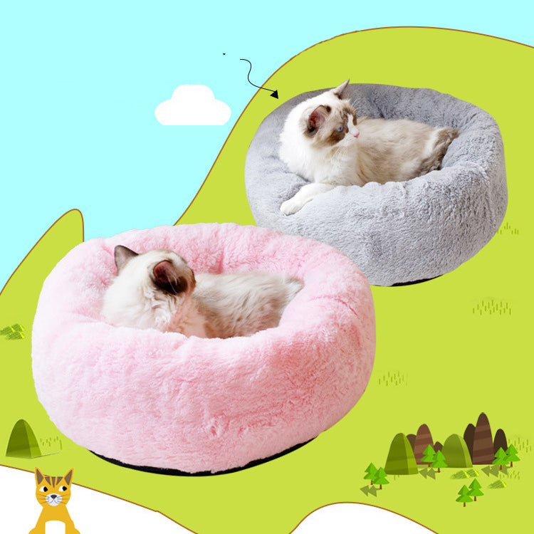 Winter Warm Pet Cat Litter Pet Nest Length of Plush Teddy Small Kennel