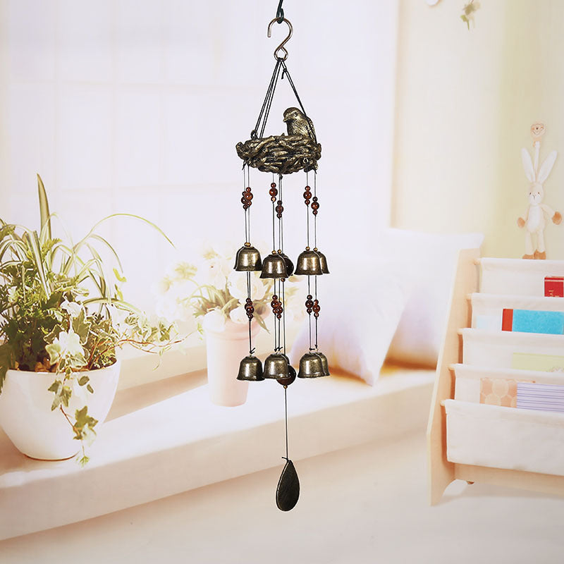 New Birds and Nest Wind Chime 12 Pieces Bells Wind Chime for Garden Backyard Decor