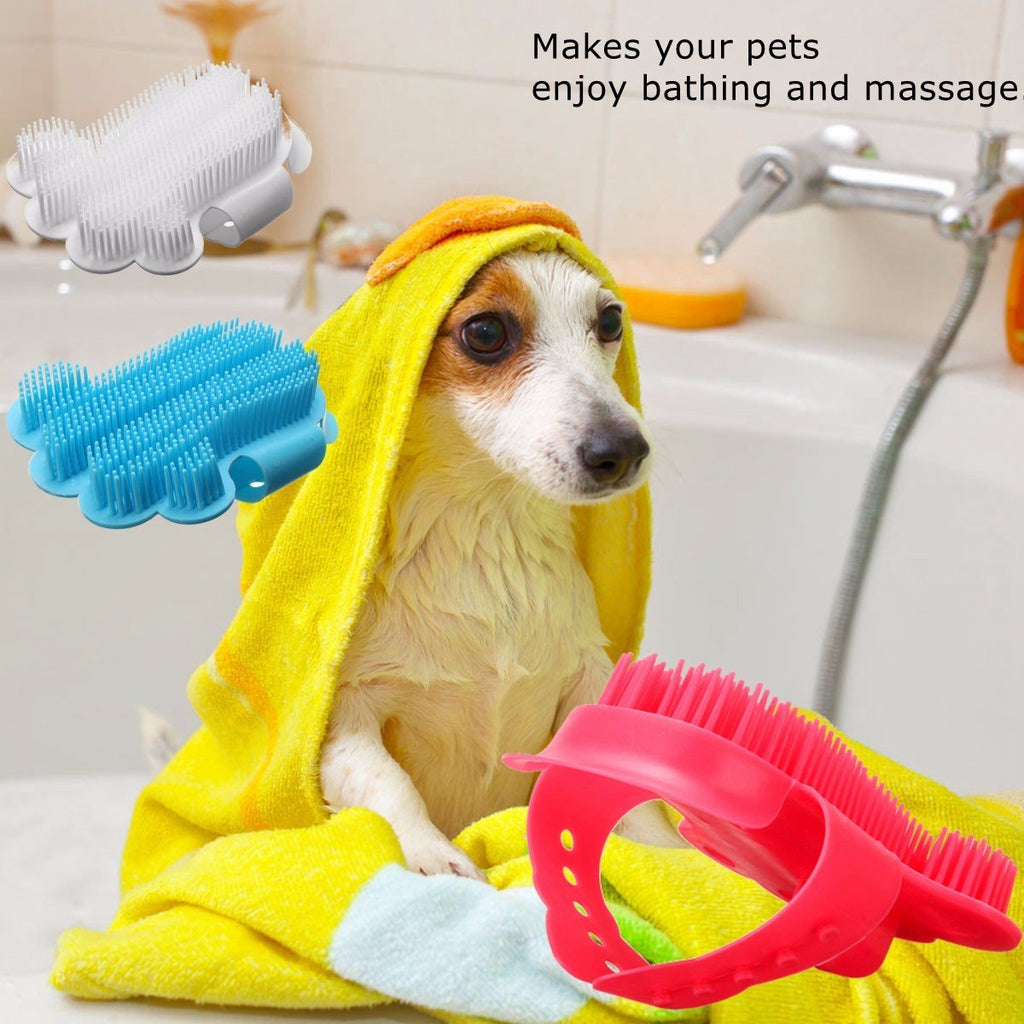 Cat Dog Pet Cleaning Hair Shedding Massage Grooming Rubber Glove Bath Brush Comb