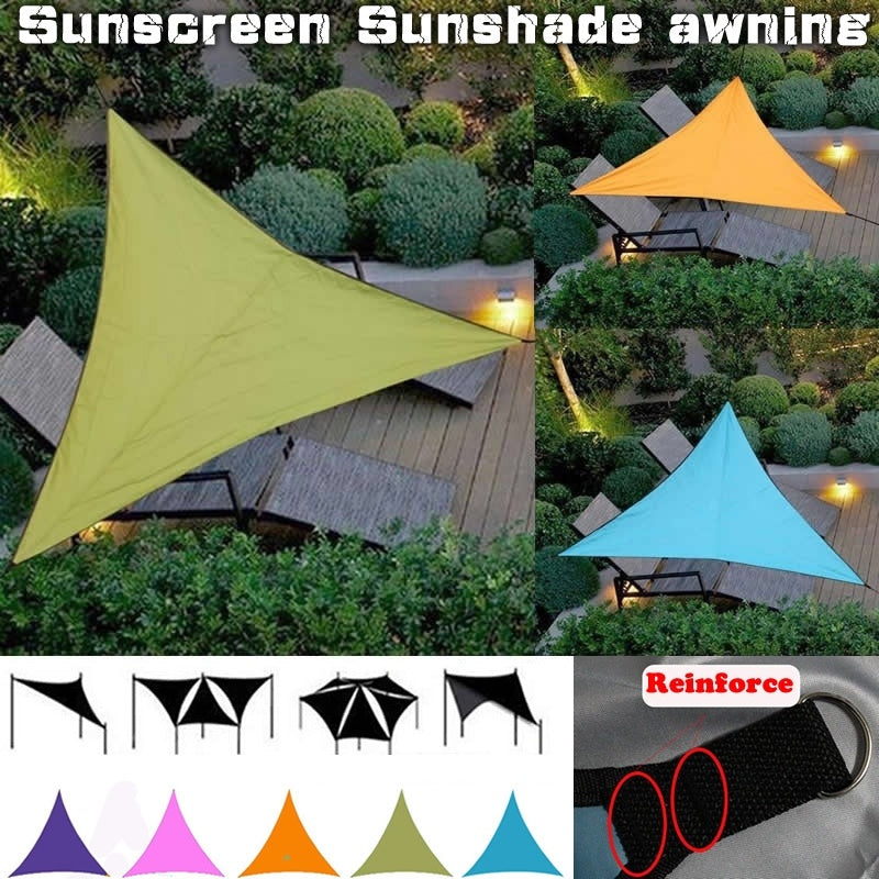 Outdoor Waterproof Triangular UV Sun Shade Sail Combination Net Triangle Sun Sail Tent for Camping Garden