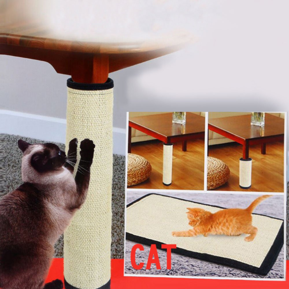Cat Scratching Mat Toy Protecting Furniture Post Sisal Mat