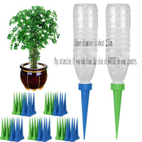 10pcs Automatic Watering Irrigation Spike Garden Plant Flower Drip Sprinkler Water Random Color