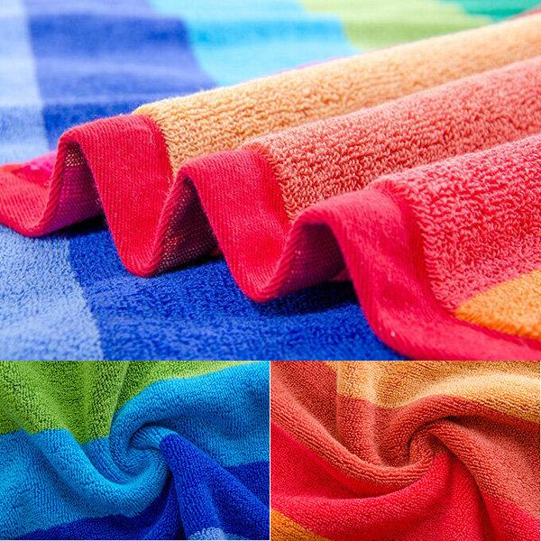 75x35cm British Style Soft Absorbent Cotton Bath Beach Towel Lovers Face Towel