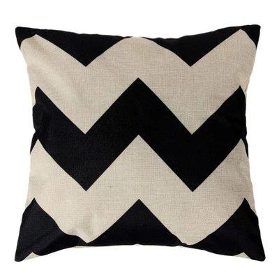 Black-Whit Geometric Print Pillow Case  Car Home Sofa Bed Decor