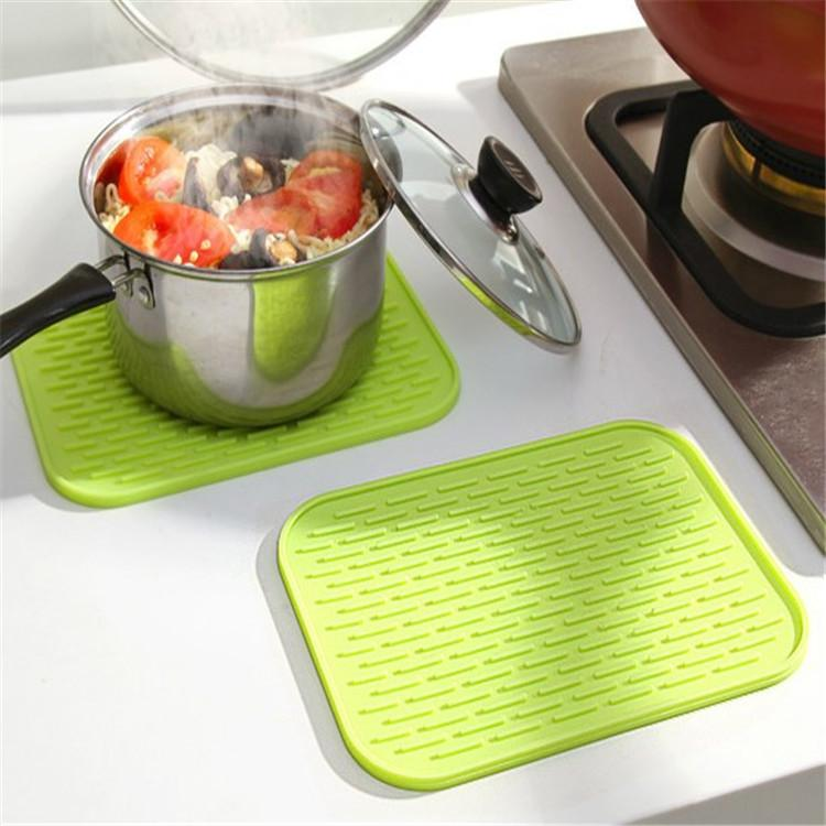 Silica Gel Pot Mat Kitchen Anti Blanking and Heat Insulation Pad Thickened Waterproof Cup Mat
