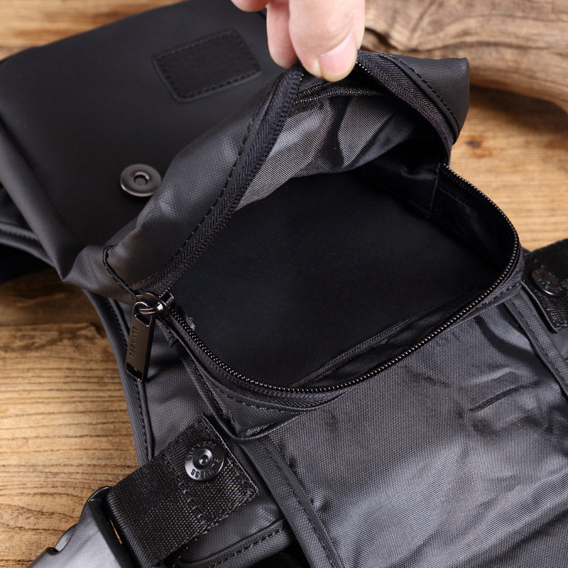 Men Fashion Nylon Waterproof Multi-function Pocket Chest Bag