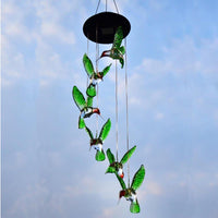 Color-Changing Solar LED Waterproof Hummingbird Wind Chimes