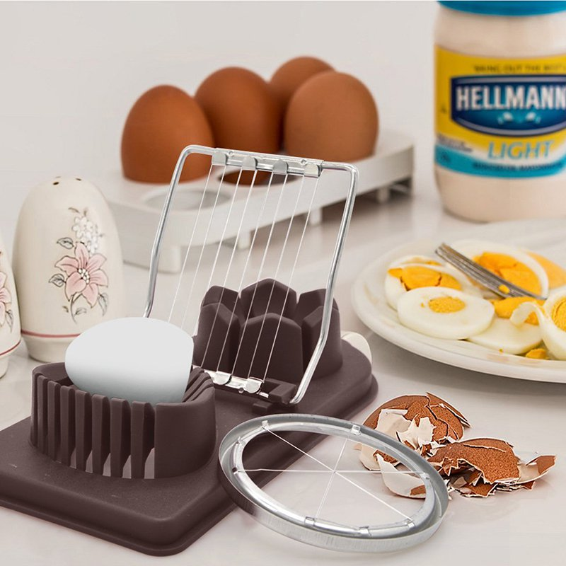 2 In 1 Stainless Steel Boiled Egg Slicer Cutter Mold Kitchen Cooking Tools
