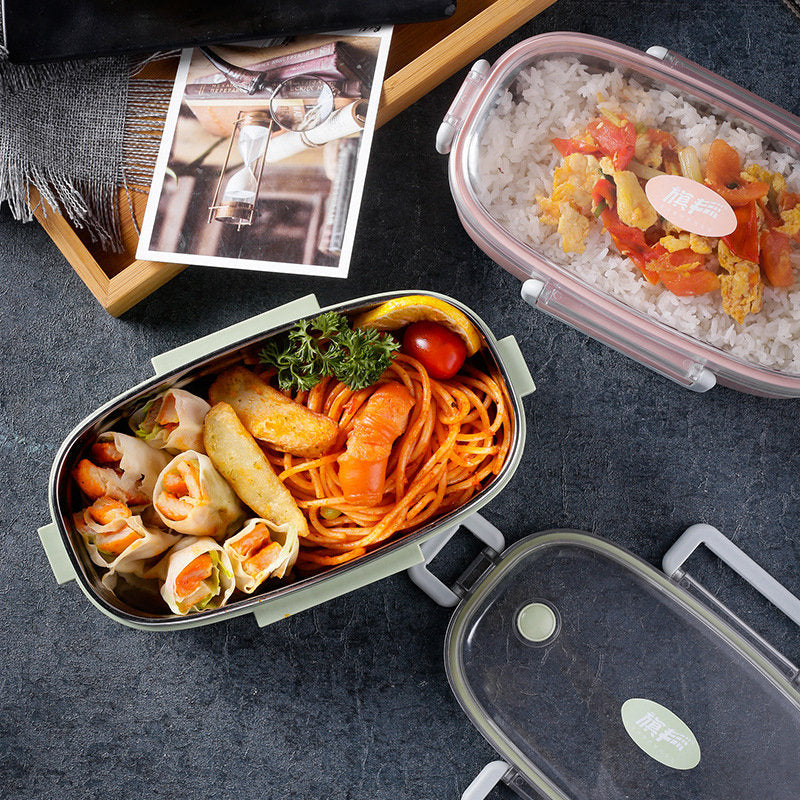 Nordic Style One Layer Stainless Steel Lunch Box Food Container Bento Box