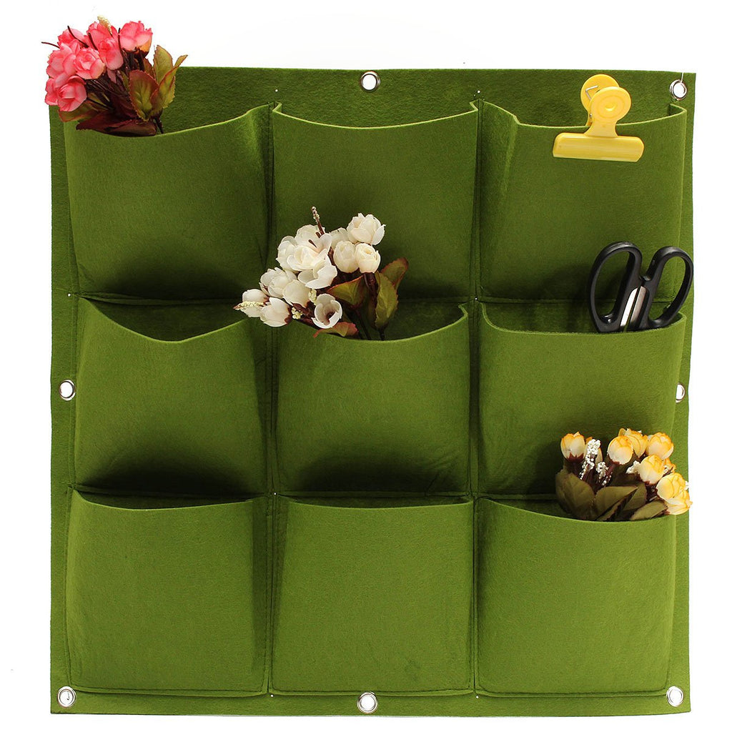 Wall Planter Bag 9 Pockets   Hanging Seedling Growing Bags