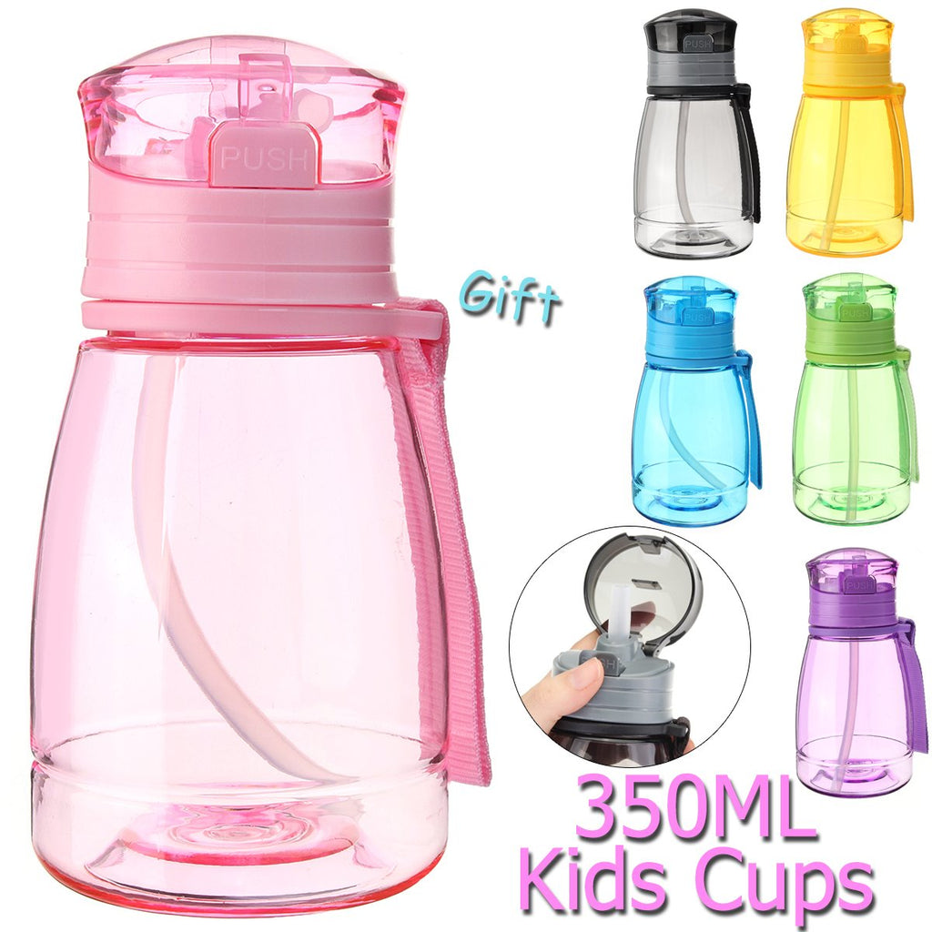 Child Sucker Cup Creative Water Bottle 300ml with Handle for Kids
