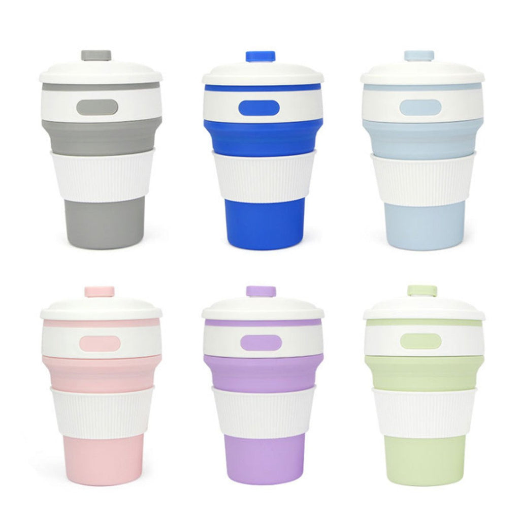 350ML Foldable Outdoor Coffee Cup Travel Collapsible Portable Reusable Silicone Drinkware