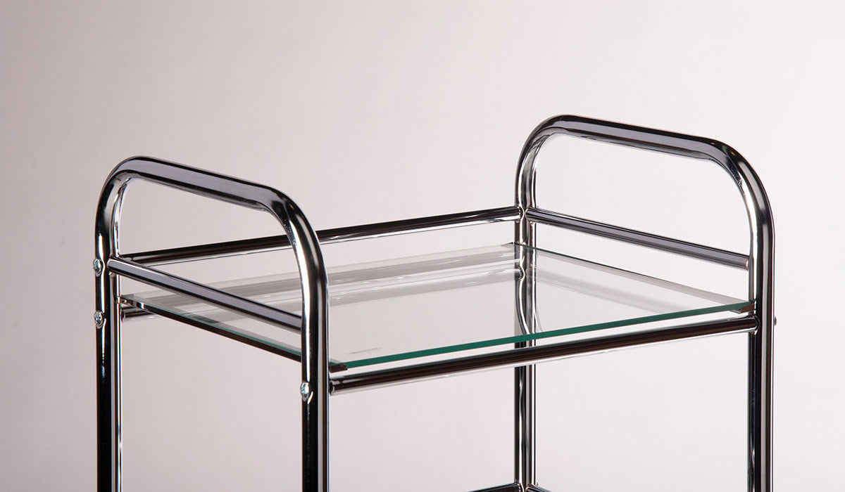 Storage Trolley 4 shelf (glass)