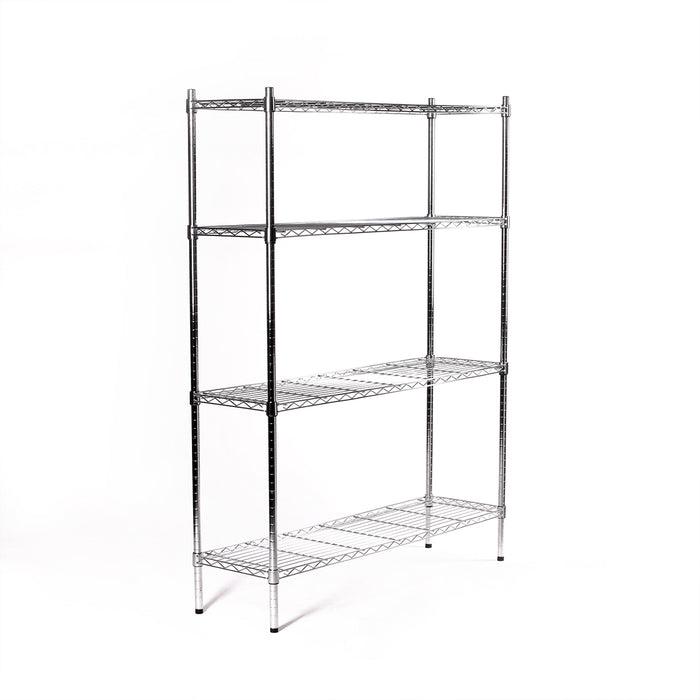 Eurowire Chrome Plated Shelving Set (4 Shelf, 1200x1500x350)
