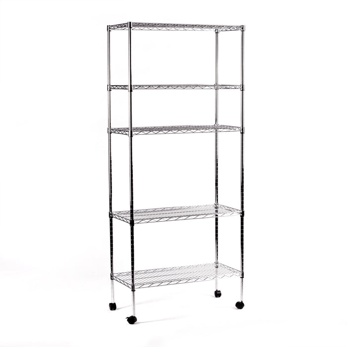 Eurowire Chrome Plated Shelving Set (5 shelf, 1670x760x350) (Silver)