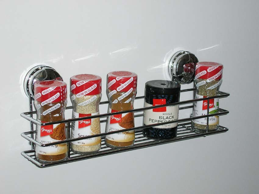 Eurowire Spice Rack (suction or screw) Chrome Plated