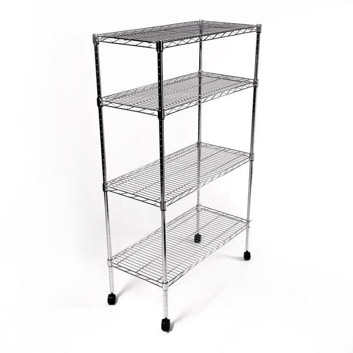 Eurowire Chrome Plated Shelving Set (4 Shelf, 1200x1500x450)