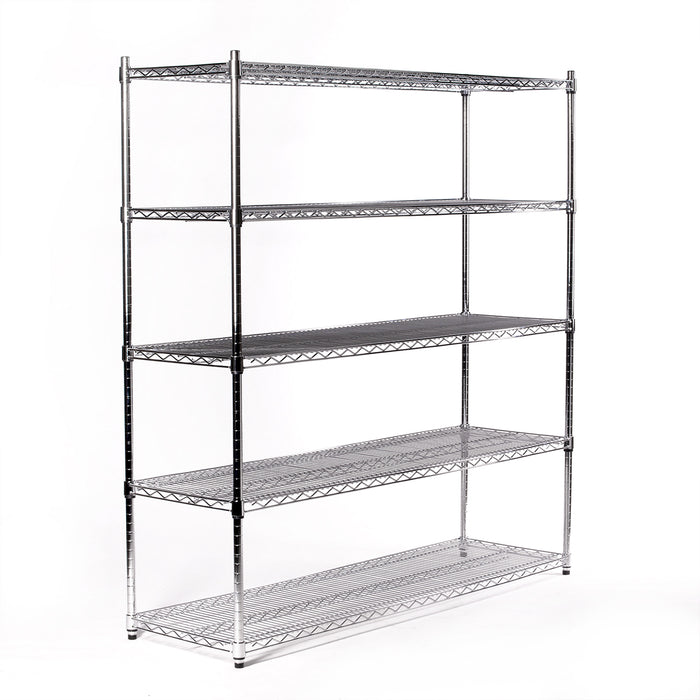 Eurowire Chrome Plated Shelving Set (5 Shelf, 1800x1500x350)