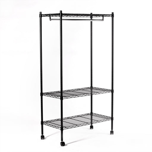 Eurowire Wardrobe (3 Shelf, 1600x900x450) (black)