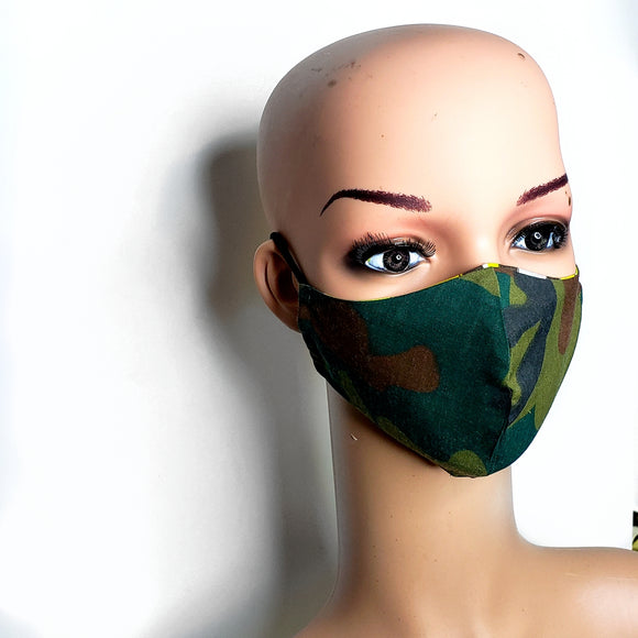Camo Child Face Mask
