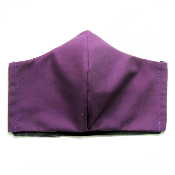 Dark Purple Cotton Re-Usable Face Mask