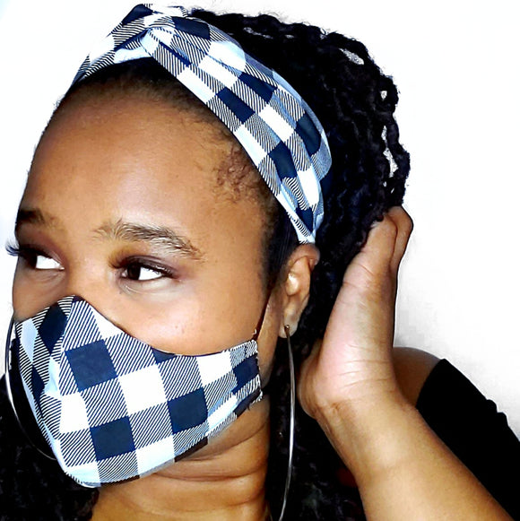 Gingham Face Mask Set