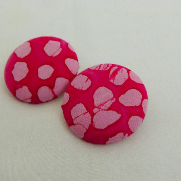Nailah Pink Batik Earrings