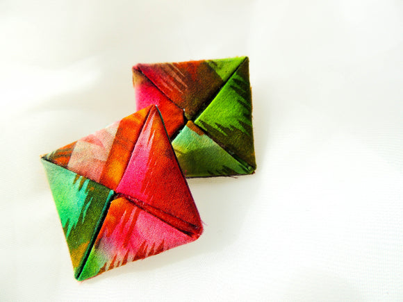 Reignbow Fabric Earrings