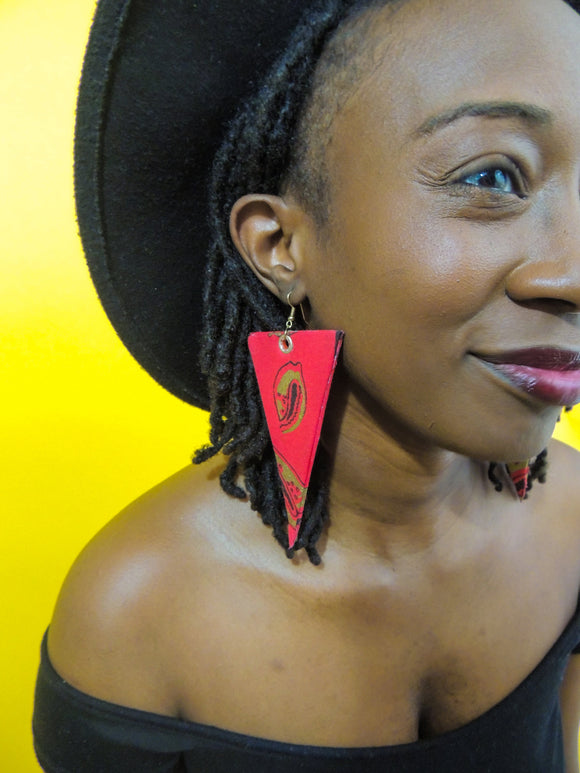 Redshe Triangular Shaped Earrings