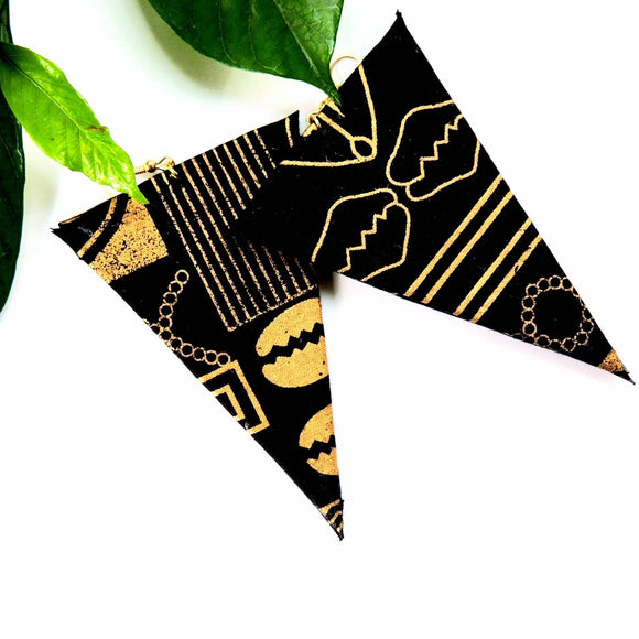 Cairo African Print Earrings
