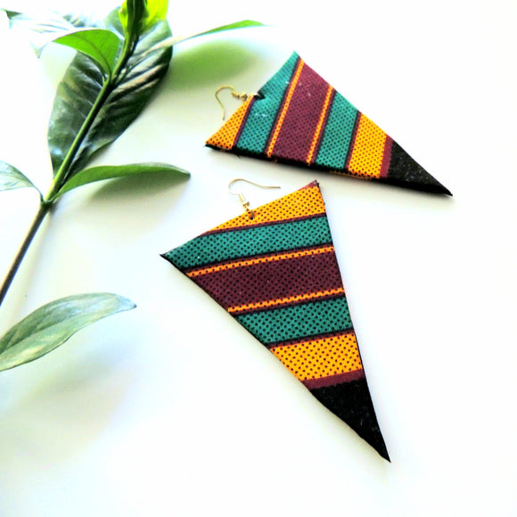 Sawdah African Print Earrings