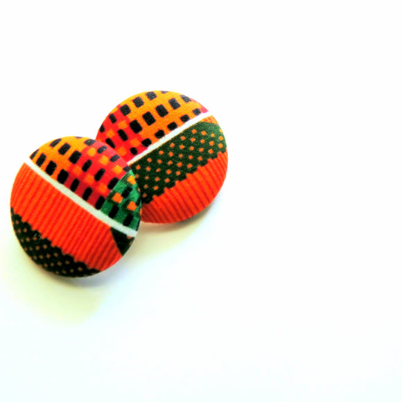 Kente Print Stud Earrings