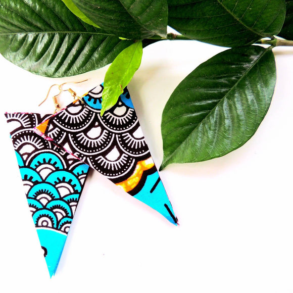 Jordyn African Print Earrings