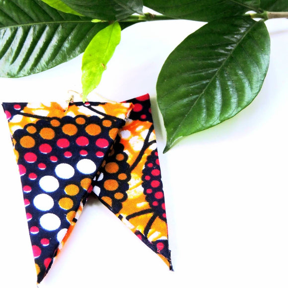 Polka African Print Earrings