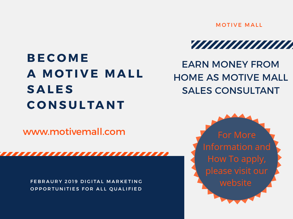 Become a Motive Mall Sales Consultant now and Earn Extra Money On The Go