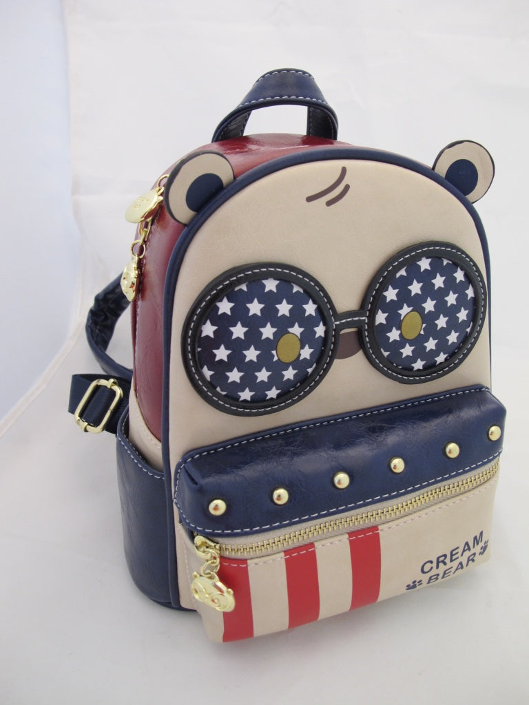 Cream Bear C1058-4 I Love USA minireppu