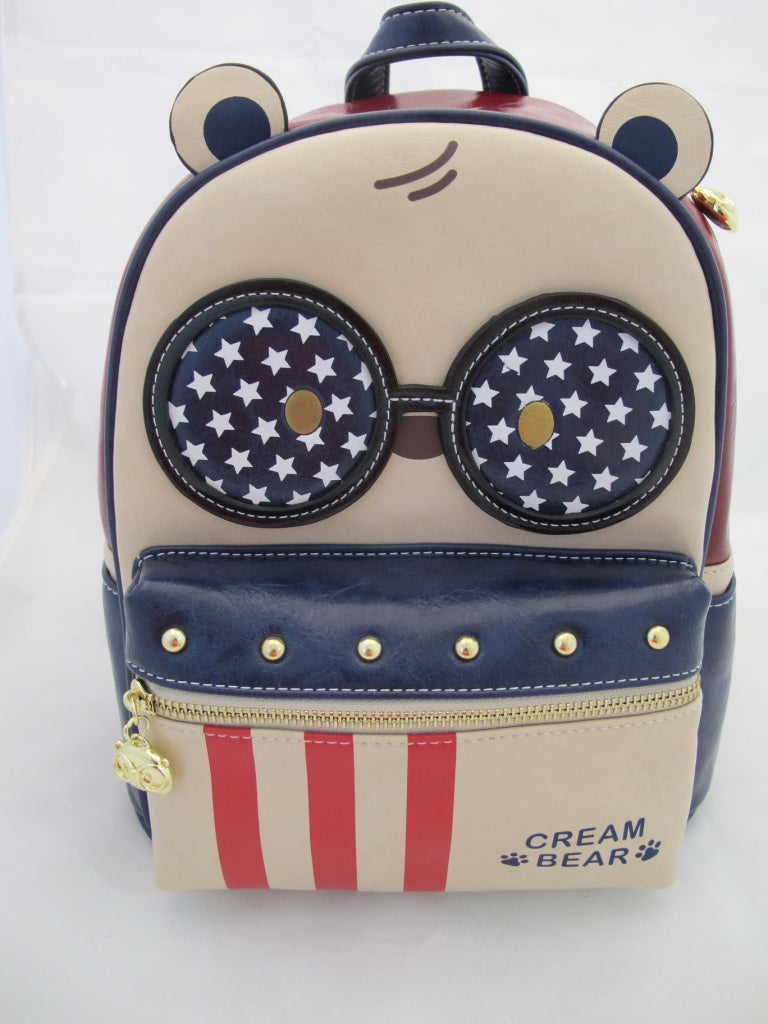 Cream Bear C1058-3 I Love USA reppu