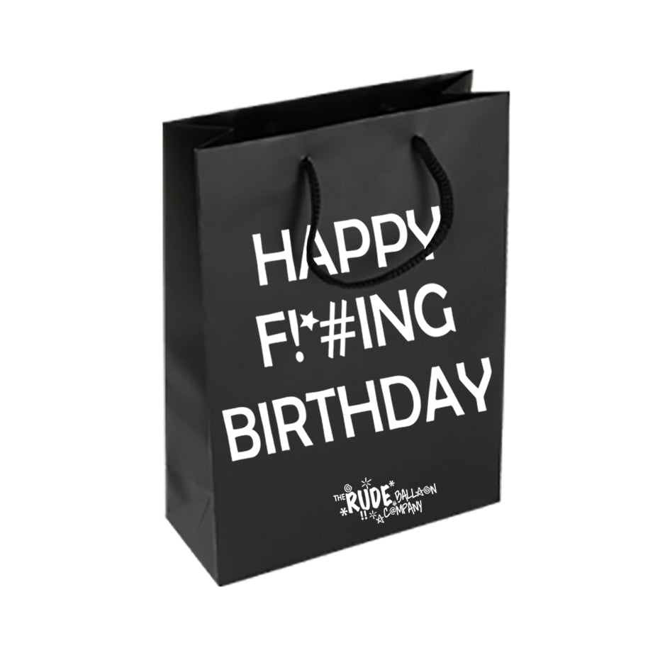 Happy Censored Birthday Gift Bag