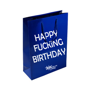 Happy Fucking Birthday Gift Bag - Blue
