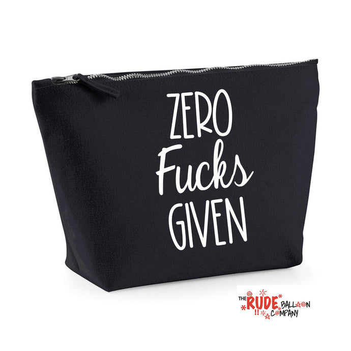 Zero Fucks Make Up Bag