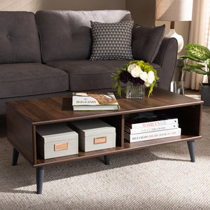 Pierre Brown and Dark Grey Finish Coffee Table - Sandcastle Home