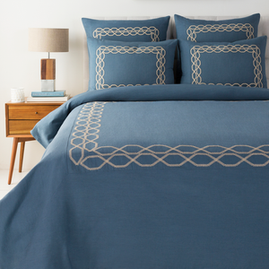 Gold Coast Dream Bedding Set (Denim/Khaki) - Sandcastle Home