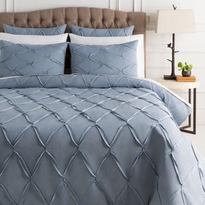Aiken Denim and Black Bedding Set - Sandcastle Home