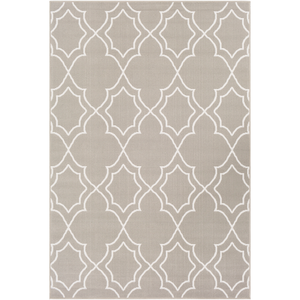Alfresco Taupe and White Area Rug - Sandcastle Home
