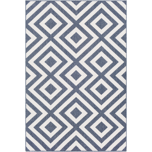 Alfresco Charcoal and White Area Rug - Sandcastle Home