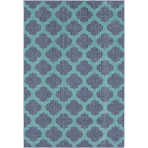Alfresco Teal and Charcoal Area Rug - Sandcastle Home