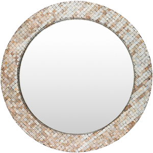 Hornbrook Mother Of Pearl Mirror (Round) - Sandcastle Home
