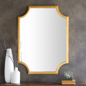 Long Bay Wall Mirror (Gold) - Sandcastle Home